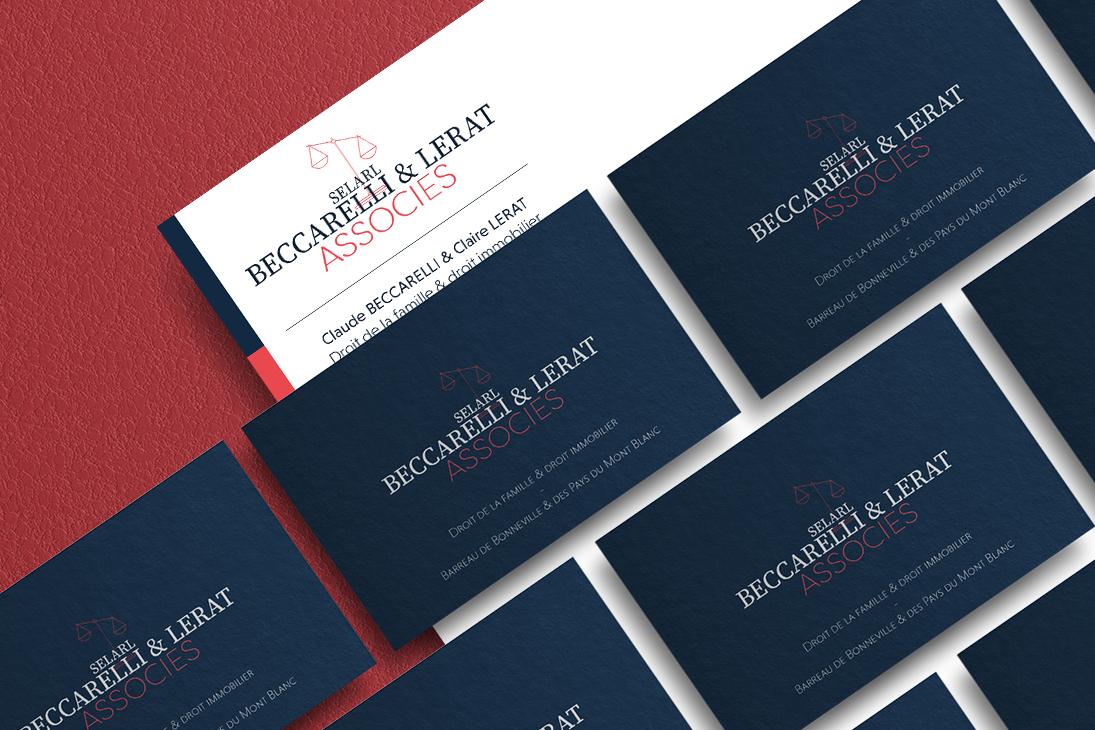 Charte graphique du cabinet d'avocat Beccarelli & Lerat Associés