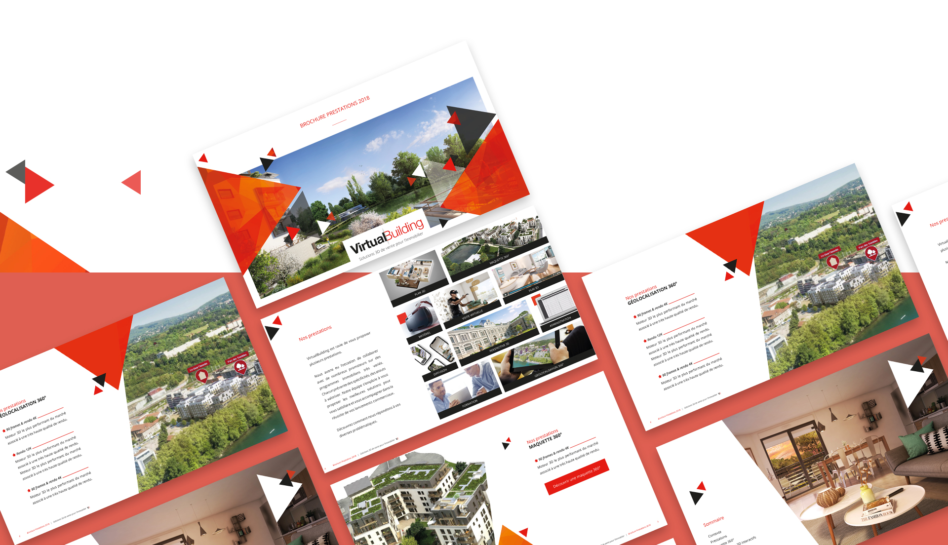 Conception de la brochure commerciale & digitale de VirtualBuilding