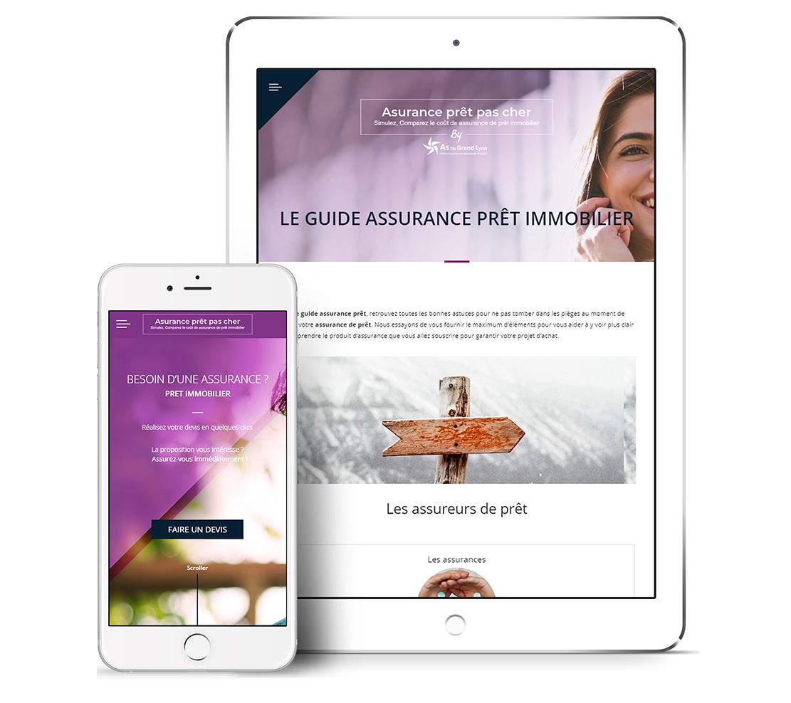 Refonte graphique du site assurance-pret-pas-cher.com